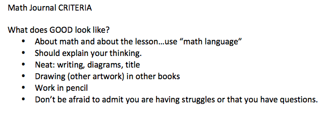 Math Criteria