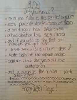 100 day poem