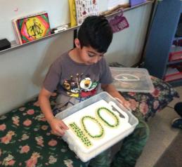 ishan 100 day cake